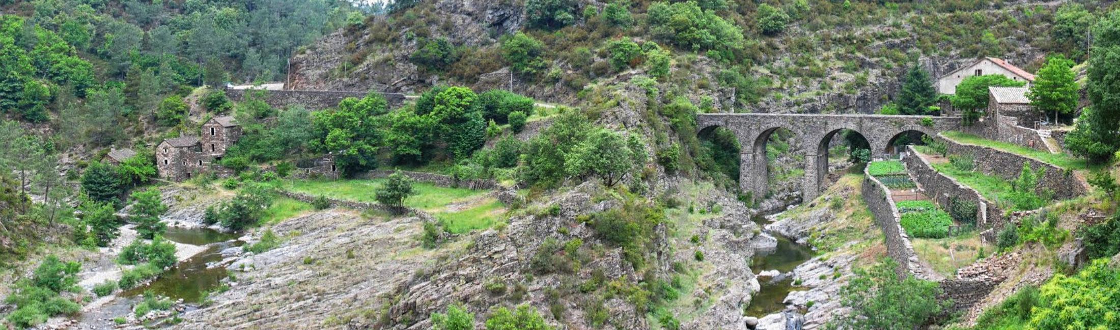La Drobie et le ruisseau de Pourcharesse